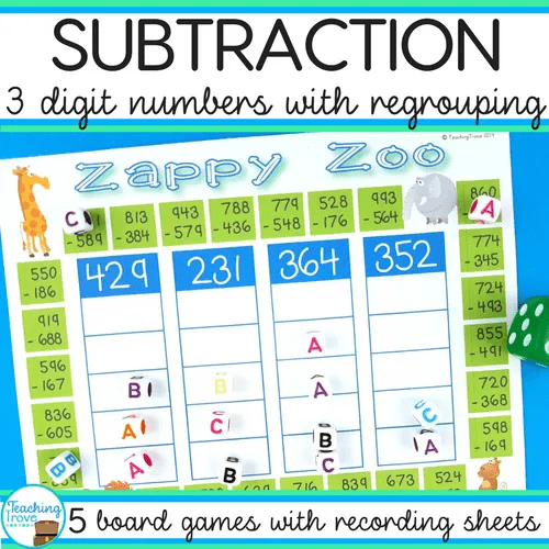 subtraction with regrouping activities