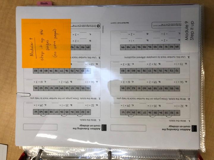 organize homework teacher labels