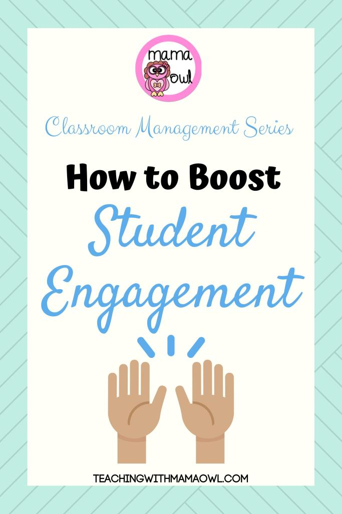 Ever look out at your students and see glazed eyes and slouching bodies? I'm so excited to share with you a system I started with my class that has completely boosted student engagement! Why is student engagement important? Student engagement helps students remember and understand more of what they're learning. #teachertips #classroommanagement #studentengagement #ElemSchool #HighSchool #K12 #MiddleSchool