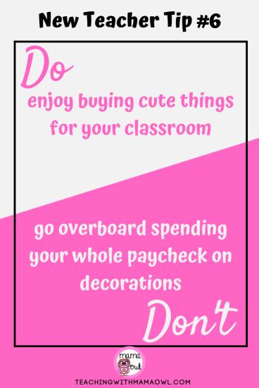 New Teacher Tip #6
