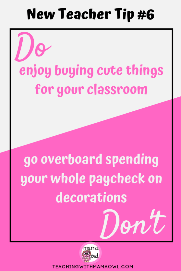 New Teacher Tip #6