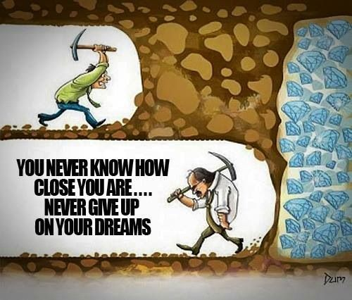 cartoon about not giving up