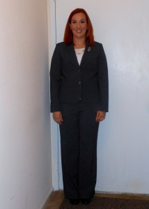 interview suit buttoned-up