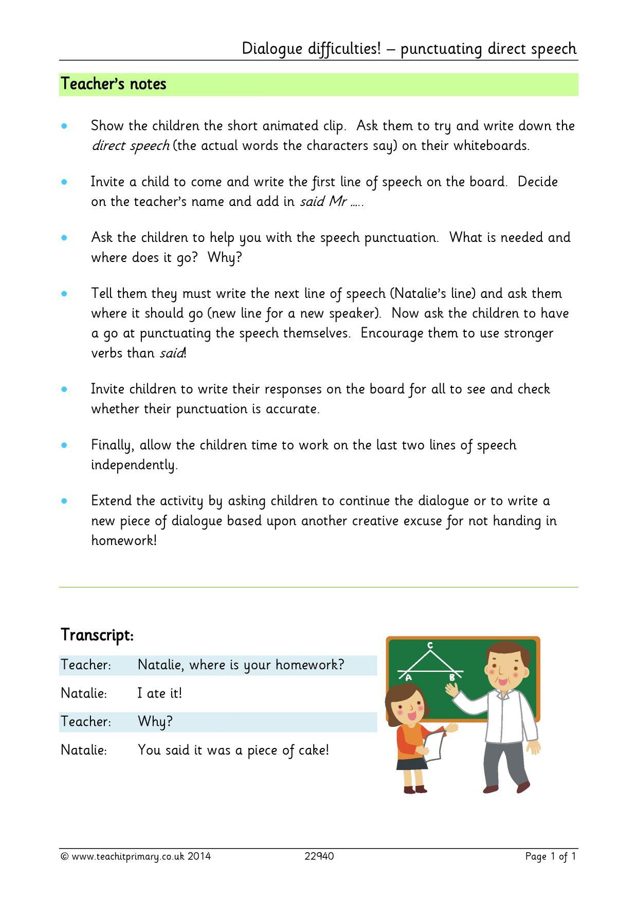 Homework Ks1 Literacy