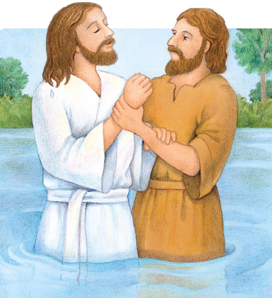 Art Lds Baptism Jesus Black Clip White