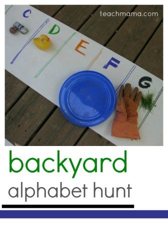 backyard alphabet hunt