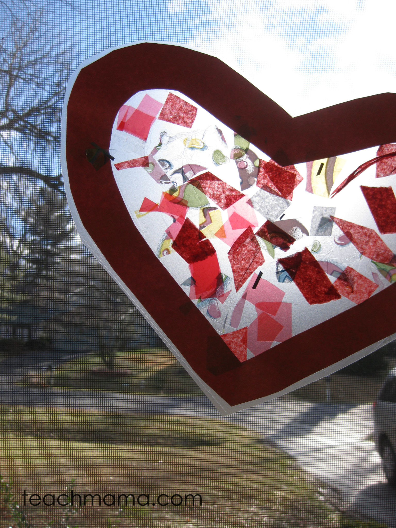 easy stained glass heart craft