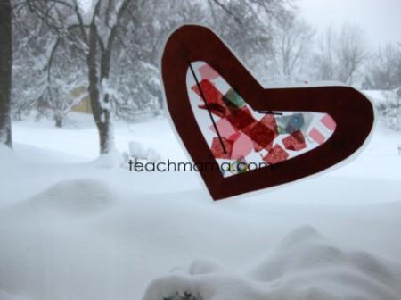 stained glass heart craft | teachmama.com