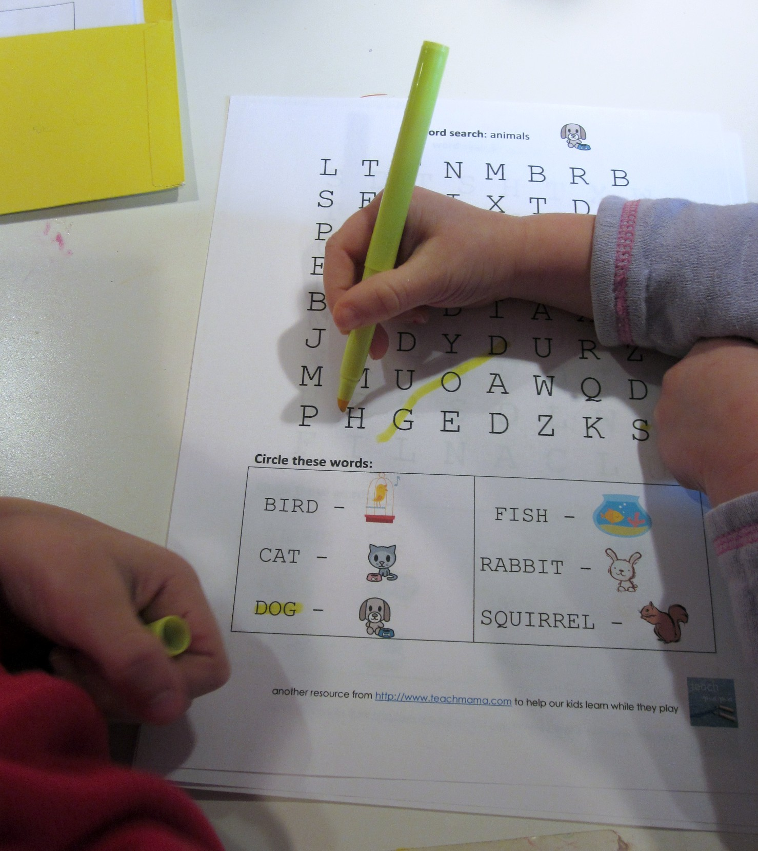 Letter And Word Learning Cora S Word Search Puzzles