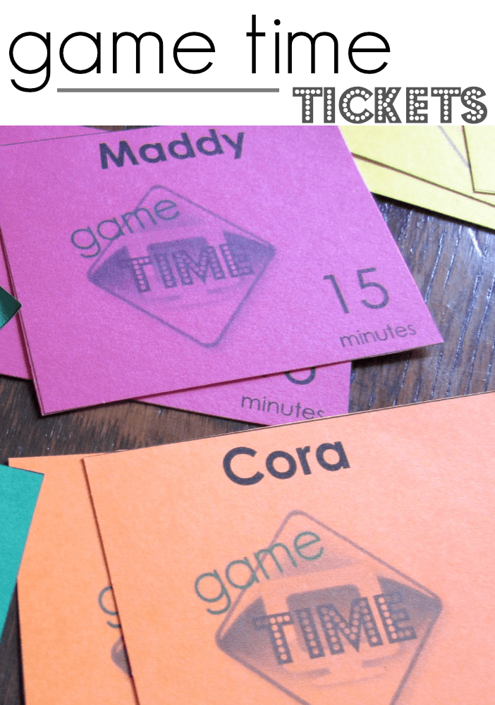 game time tickets manage kids screen time