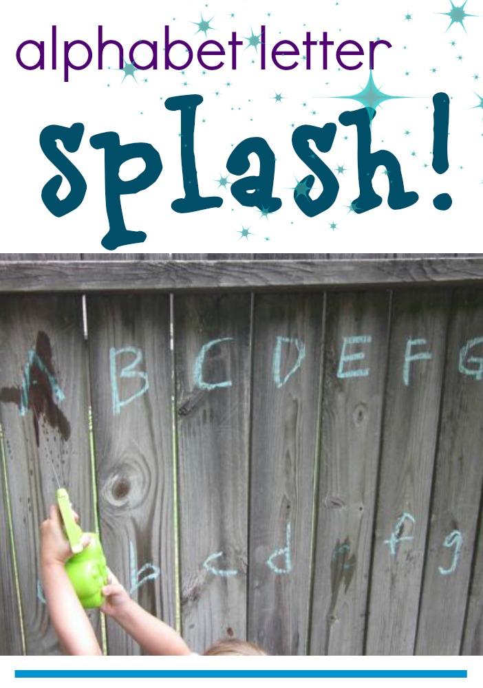 alphabet letter splash