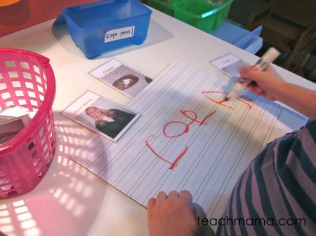 read and write family names | teach mama