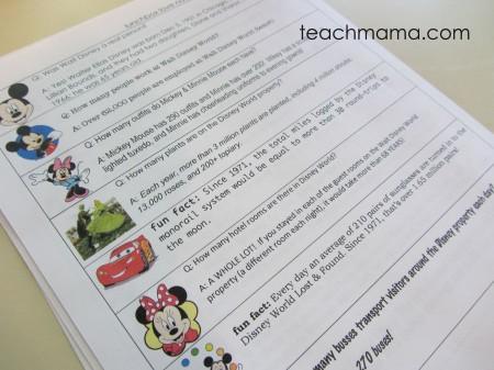disney world fun fact lunchbox notes   teachmama.com