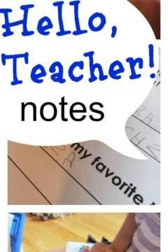 hello teacher notes: let kids connect with teachers