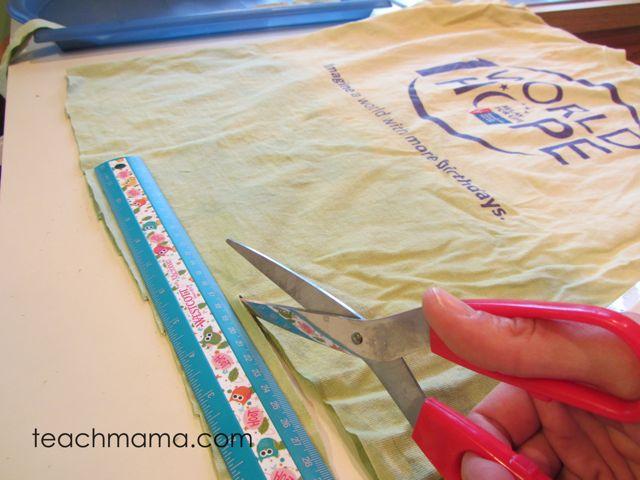 halloween scarf -- cutting shirts