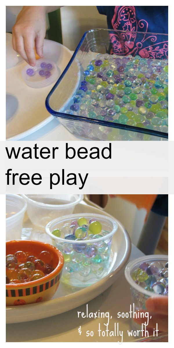 water beads free play