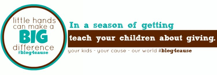 practice giving with your family: #blog4cause