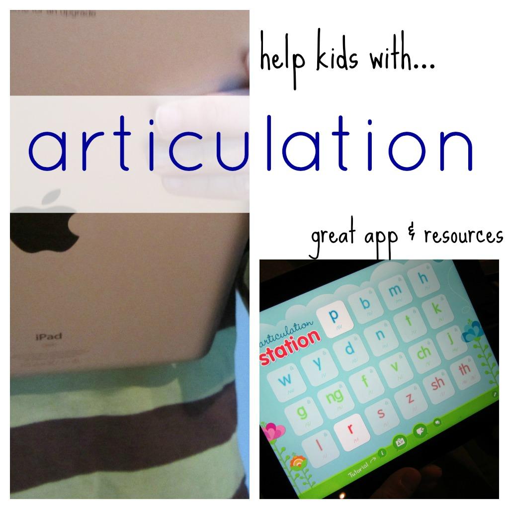 help kids with articulation