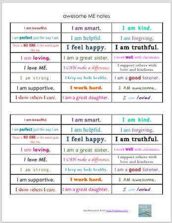 awesome me notes | teachmama.com
