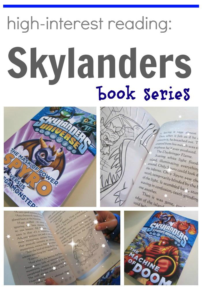 high interest reading skylanders books