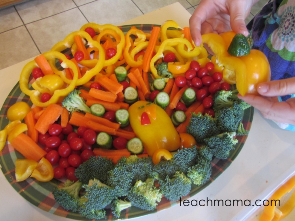 vegetable turkey with colorful veggies