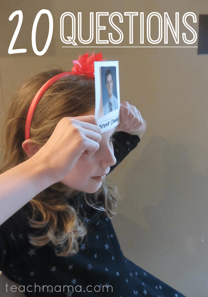 20 questions homemade party game