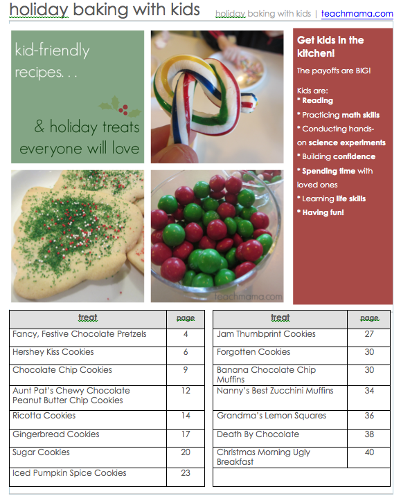 holiday baking with kids eBook teachmama.com