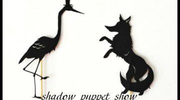 the fox and the crane: shadow puppets with printables   guest post by @liskarediska on teachmama.com