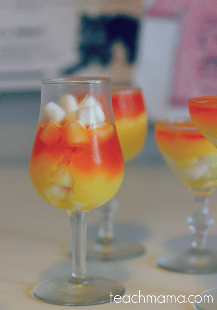 make easy candy corn desserts with kids (they're not perfect and still pretty)