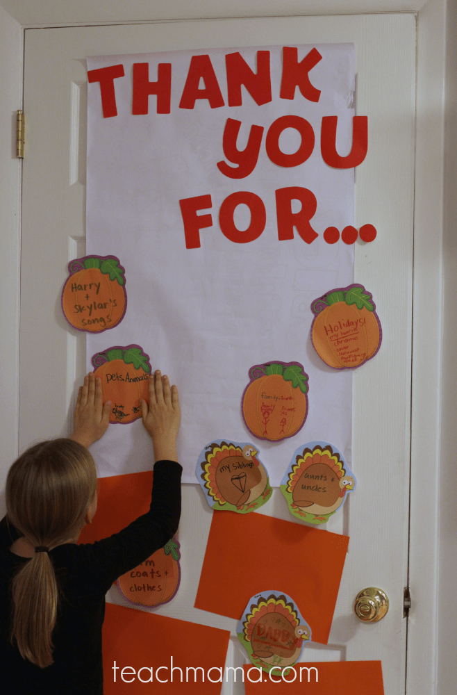 thankful door: reminding our kids to be grateful every day   teachmama.com