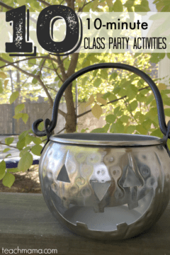 halloween class party: 10 quickie activities for that extra 10 minutes