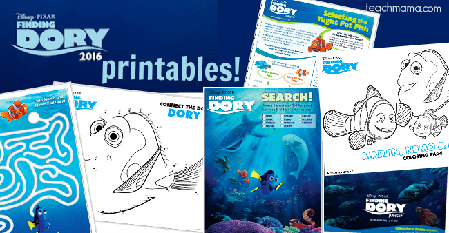everything you need to make it a finding dory summer | teachmama.com
