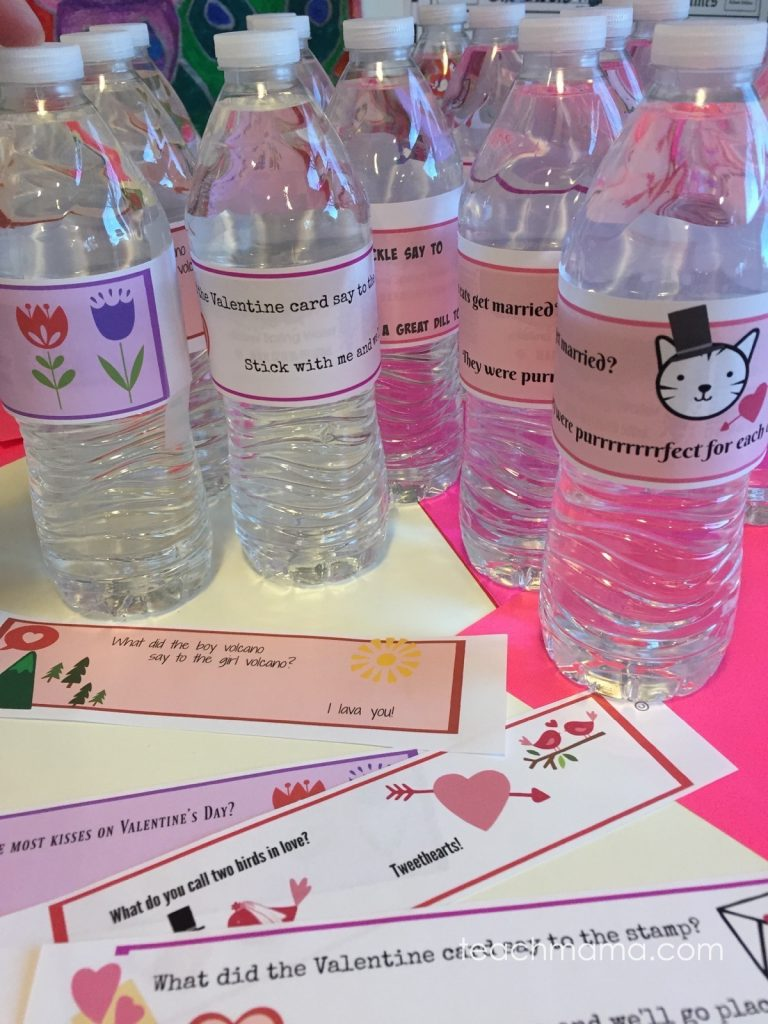 Valentine S Day Water Bottle Labels Get Kids Reading Jokes Teach Mama
