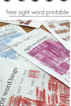 sight word bingo: color and learn sight words