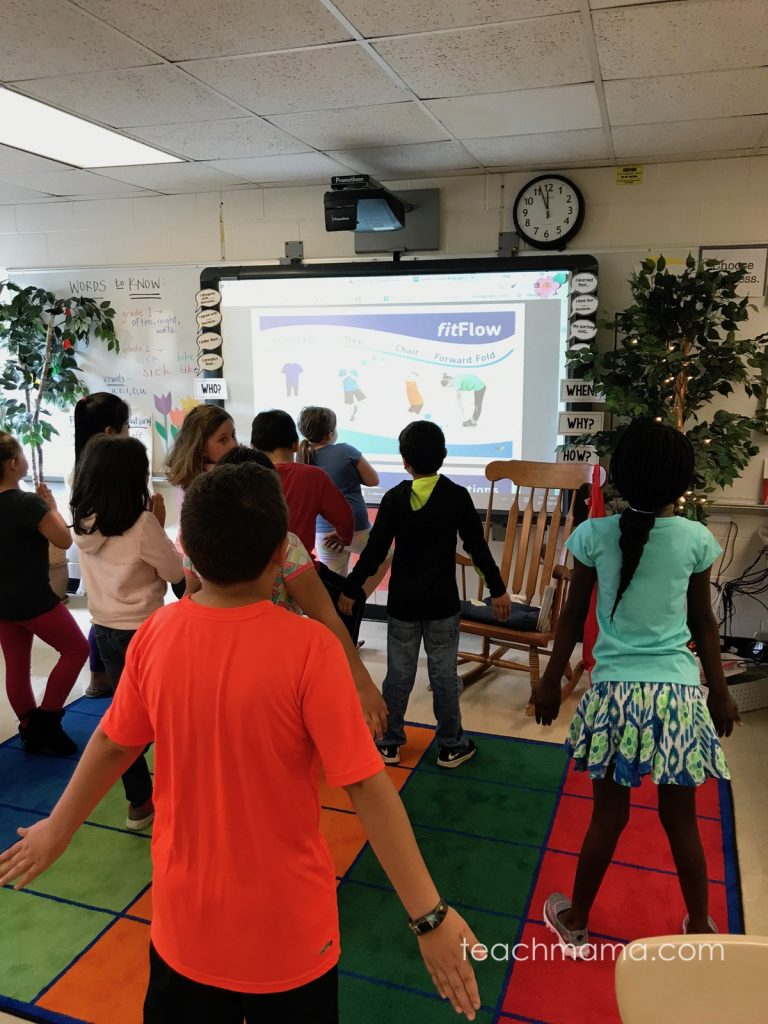 yoga brain breaks: use fitflow to teach kids yoga moves from fit4Schools