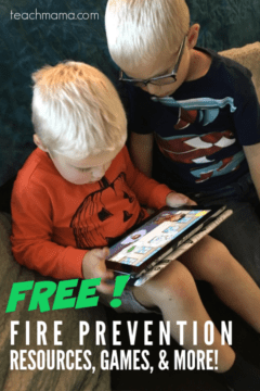 two boys playing with fire prevention resources