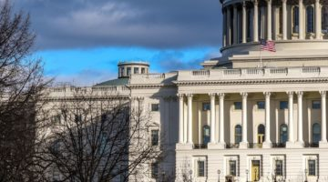 us capitol building blue sky