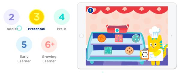 HOMER screenshot for preschooler learning