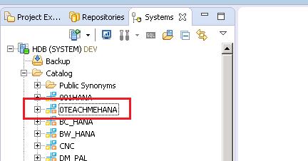 SAP HANA TABLE SCHEMA
