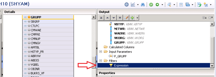 SAP HANA INPUT PARAMETERS IN GRAPHICAL VIEWS CALCULATION VIEWS