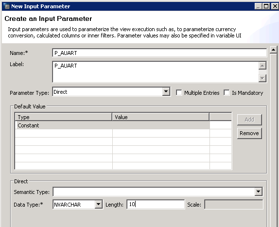 SAP HANA RESTRICTED COLUMN CALCULATION VIEW