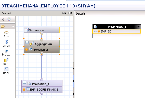 Aggregation in sap hana calculation view
