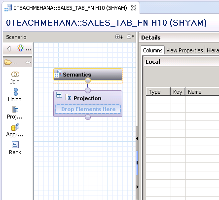 hana table function with calculation view