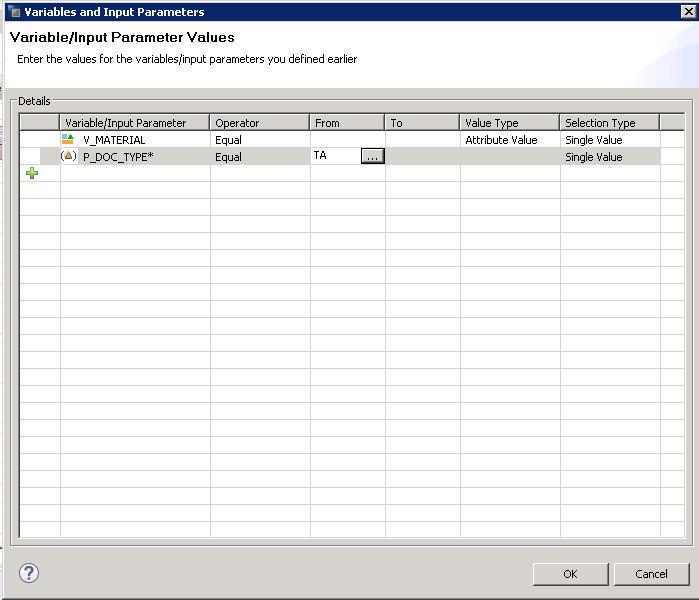 SAP HANA Scripted Calculation View input parameters