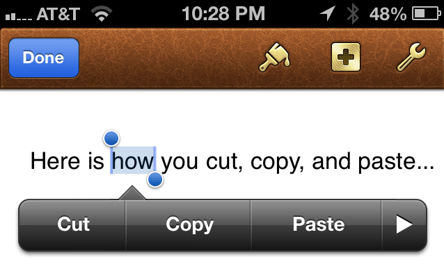 How to select, copy, cut, and paste on iPhone, iPad (Mini) and iPod Touch