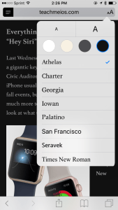 "Quick Tip: Use ""Reader"" function in Safari to focus in on a webpage article on your iPhone or iPad"