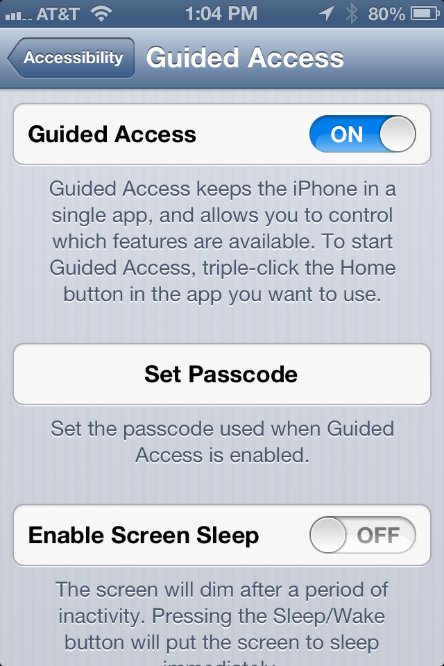 Turn on Kid's Mode (Guided Access) on your iPhone, iPad (Mini) and iPod Touch in iOS 6