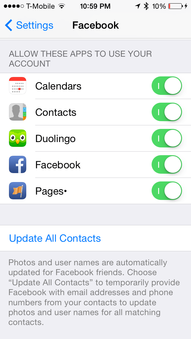 sync facebook contacts iphone ios 7 keep your iphone and mini contacts updated 9475