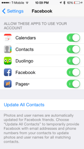 iOS 7: Keep your iPhone and iPad (Mini) contacts updated with Facebook Sync