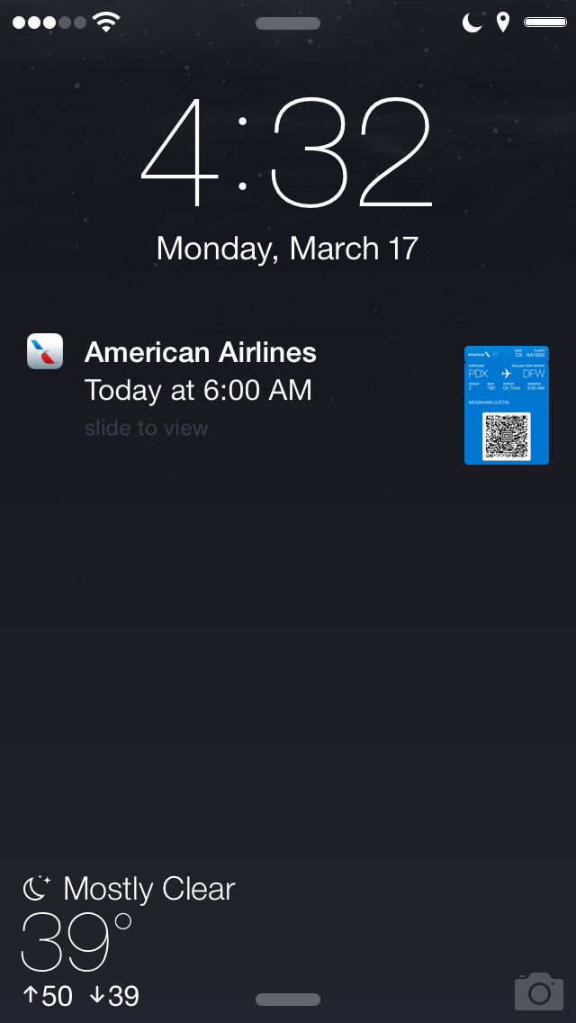 21f3ede38e6 How to use airplane boarding passes in Passbook for iPhone ...